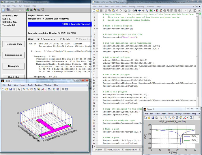SonnetLab Toolbox for MATLAB®